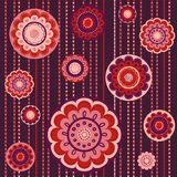 Abstract flower seamless colorful pattern Royalty Free Stock Images