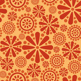 Abstract flower seamless firework background. Seamless background of flowers and geometric shapes Stock Image