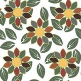 Abstract flower seamless pattern background Stock Image