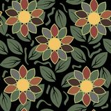 Abstract flower seamless pattern background Royalty Free Stock Photo