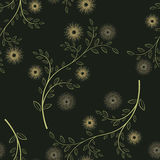 Abstract flower seamless pattern background Stock Images