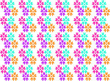 Abstract flower seamless pattern background. Multi-colored flower seamless pattern on white background royalty free illustration