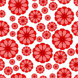Abstract flower seamless pattern. Seamless pattern of the abstract flower shapes Stock Images