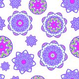 Abstract flower seamless pattern. Vector Stock Image