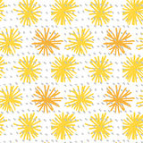Abstract flower seamless pattern Stock Images