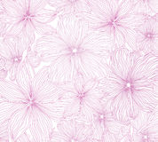 Abstract flower Seamless Vector Background Texture. Floral seamless gentle pink backdrop Royalty Free Stock Images