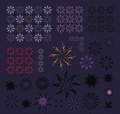 Abstract flower set Stock Photography