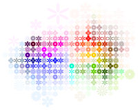 Abstract Flower Spectrum Background Vector. Digital flower arrangement in spectrum color Royalty Free Stock Photos