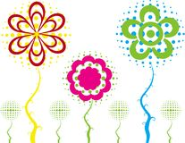 Abstract flower spring illustration  Royalty Free Stock Photos
