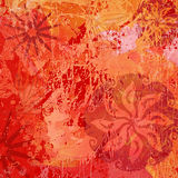Abstract and Flower Texture Background. In Red / Orange royalty free illustration