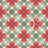 Abstract flower tiles seamless pattern. Royalty Free Stock Images