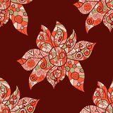 Abstract flower. Tribal styled pattern. Oriental Stock Photo