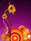Abstract flower vector Stock Images