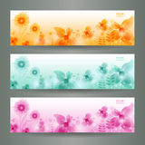 Abstract Flower Vector Background / Brochure Templ Royalty Free Stock Image