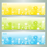 Abstract Flower Vector Background / Brochure Template / Banner. Stock Image