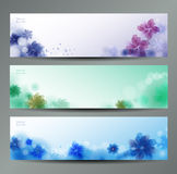 Abstract Flower Vector Background / Brochure Template / Banner. stock illustration