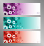 Abstract Flower Vector Background Stock Images