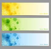 Abstract Flower Vector Background. Brochure Template / Banner. eps 10 Stock Images