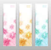 Abstract Flower Vector Background / Brochure Template / Banner. eps 10 Royalty Free Stock Photo