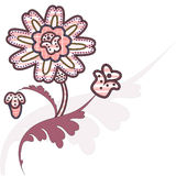 Abstract flower. Vector background with pink abstract flower Royalty Free Stock Photography