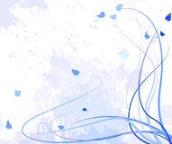 Abstract flower violet card Royalty Free Stock Images