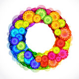 Abstract flower wreath frame. Stock Photo