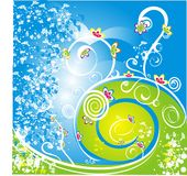 Abstract flowered illustration Stock Photo