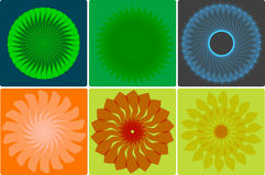 Abstract flowers Royalty Free Stock Photos