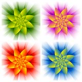 Abstract flowers Stock Photos
