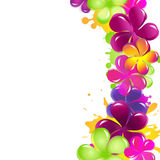 Abstract Flowers. Isolated On White Background, Vector Illustration Stock Photo