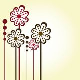 Abstract flowers Royalty Free Stock Photo