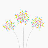 Abstract flowers. Abstract colorful flowers. Vector illustration Royalty Free Stock Photo