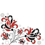 Abstract flowers. Decorative abstract flowers on white background Stock Images
