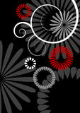 Abstract flowers vector illustration