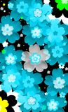 Abstract flowers Stock Image