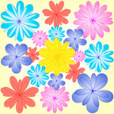 Abstract flowers Stock Photo