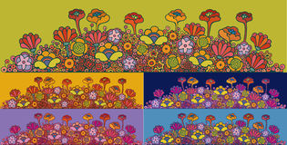Abstract flowers. Abstract multicolored flower-bed in multiple fantasy flowers royalty free illustration