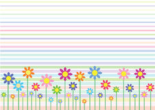Abstract flowers. Abstract illustration of flowers in field stock illustration