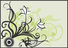 Abstract flowers. Illustration of abstract flowers Royalty Free Stock Image
