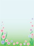 Abstract flowers background. Beautiful abstract flowers background with place for your text Royalty Free Stock Photos