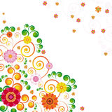 Abstract flowers background Royalty Free Stock Photography