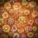 Abstract Flowers Background. Background or wallpaper image featuring abstract floral patterns royalty free illustration