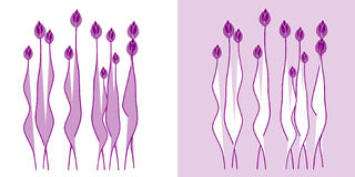 Abstract flowers on background. Royalty Free Stock Photo