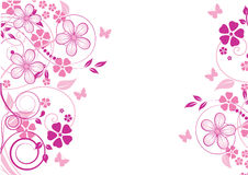 Abstract flowers background Stock Image