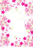 Abstract flowers background Stock Photography