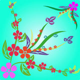 Abstract flowers background Royalty Free Stock Image