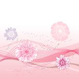 Abstract flowers background with place for your Royalty Free Stock Image