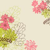Abstract flowers background with place for your Royalty Free Stock Images
