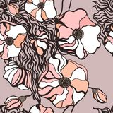 Abstract Flowers background. Seamless pattern Royalty Free Stock Photography