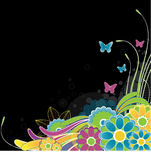 Abstract Flowers background. Vector Illustration Royalty Free Stock Photography